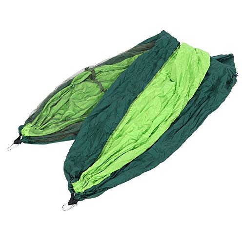 441lb Load Rollover Prevention Camping Swing, Two‑Way(Dark Green and Fruit Green (Green net) 260140)