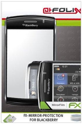 atFoliX Spiegelfolie für Blackberry 9520 Storm2 - FX-Mirror: Spiegel Schutzfolie vollverspiegelt! Höchste Qualität - Made in Germany!