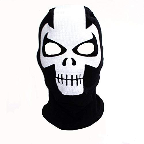 QINGYU Máscaras Pasamontañas Halloween Cosplay Disfraces Sombreros Sombreros Deathstroke Costilla Tejidos Mascarilla Facial-si