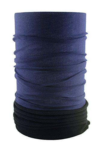 HeadLOOP Polar EXTRA LANG Schwarz Blau Fleece + Schlauchtuch Multifunktionstuch Schal Halstuch Kopftuch Microfaser