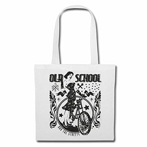 Tasche Umhängetasche Old School Fahrrad Retro Damen Fahrrad RENNRAD Mountainbike FAHRRADTOUR Fahrrad Mountainbike FAHRRADREPARATUR RADRENNSPORT FAHRRADTOUR BIKESHIRT Ride Einkaufstasche Schulbeutel
