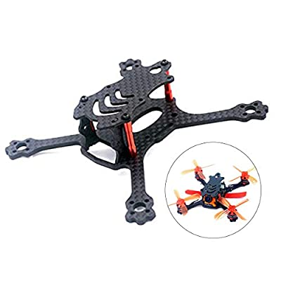 Crazepony-UK X 110 FPV Drone Frame Carbon Fiber with 2.5mm Arms, Freestyle X Frame Quadcopter Kit for 1104 1105 1106 1306 Brushless Motor (Suitable for 2'' propeller) from Crazepony-uk