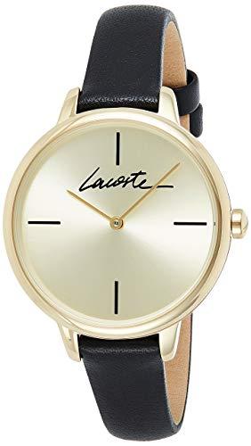 Lacoste Damen Analog Quarz Uhr mit Leder Armband 2001124
