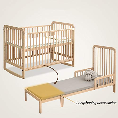 Learn More About 4-in-1 Baby Crib Splicing Large Bed Adjustable Height Bed Board, Shaker/Game Bed/So...