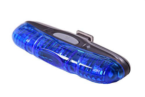 ULTRA BLUE FLASHING 5 LED BIKE LIGHT,GREAT POLICE FUN LIGHT IDEAL FOR KIDDIES BICYCLE,ADULT CYCLE KIDDIES PEDAL CAR, GO KART, CHILDS SCOOTER ETC