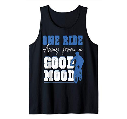 One Ride Away From A Good Mood - Funny Cycling Tank Top