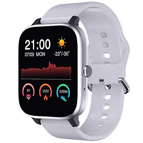 Smartwatch Uomo Donna, Bluetooth Orologio Fitness Cardiofrequenzimetro Cronometro Orologio Sportivo Calorie Activity Tracker Notifiche Messaggi Controller Musicale Regalo per la festa della mamma
