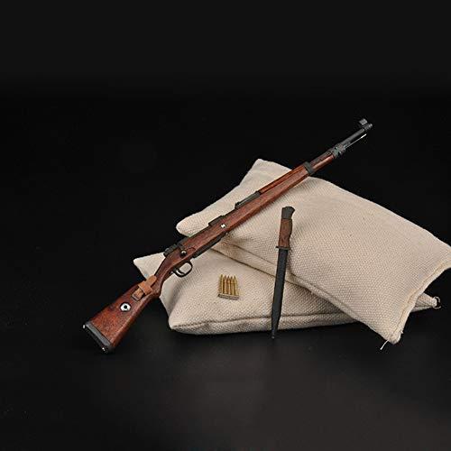 1/6 Seconda Guerra Mondiale Pistola per Fucile 98K Modello di Arma 12 Pollici Action Figure Accesssories + Baionetta per Armi Giocattoli Flessibili per Armi per Soldier Doll Impossibile Avviare