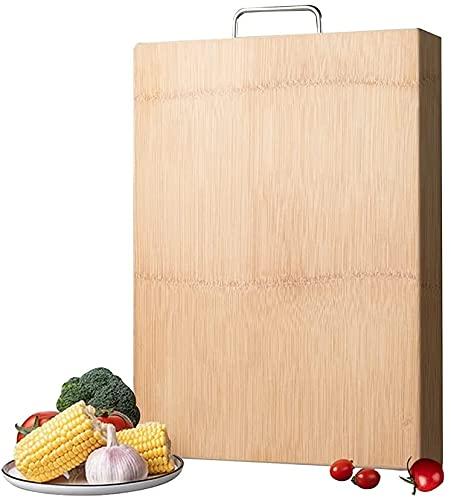 HGFHG Tabla De Cortar De Bambú Tabla De Cortar De Madera Antideslizante De Doble Cara para Verduras Frutas Bandeja De Carne Herramientas Accesorios De Cocina (Talla : 40×30cm/15.7×11.8inch)