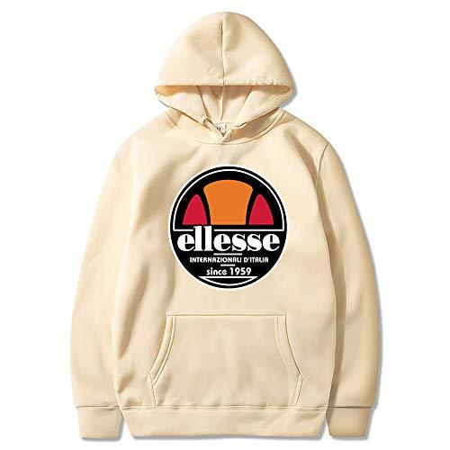 Ellesse Hoodie Herren Jogging Anzug+0 Lange Hose Hip Hop Hoodies Classic Logo Hooded Sweatshirt Cotton Pullover Sportanzug,E,XXXL