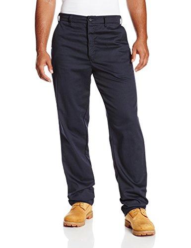 Bulwark Men's Flame Resistant 9 oz Twill Cotton Work Pant, Navy, 33W x 34L