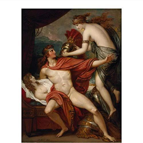 PDFKE Benjamin West Thetis llevando la Armadura a Aquiles póster con impresión artística Pinturas al óleo Lienzo Arte de Pared -20x28 Pulgadas sin Marco 1 Uds
