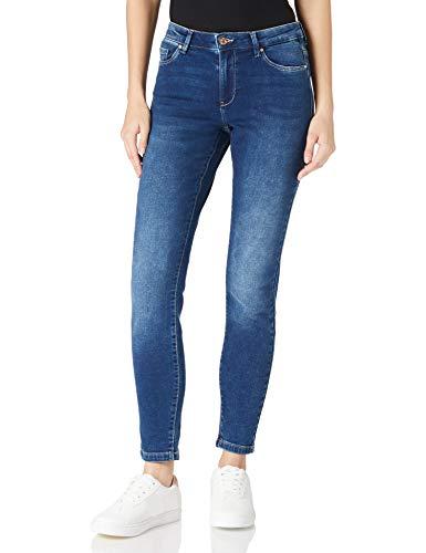 ONLY Damen CARMEN LIFE Jeans, Dark Blue Denim, L30/W27