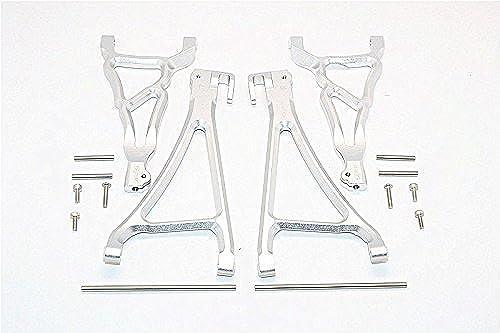 precioso GPM Traxxas E-Revo Brushless Edition Upgrade Parts Aluminium Front Front Front Upper & Lower Suspension Arm - 4Pcs Set plata  apresurado a ver