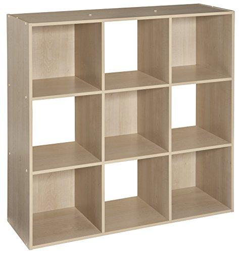 ClosetMaid 4177 Cubeicals Organizer, 9-Cube, Birch