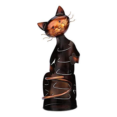 #N/a Estante para vino Vintage, estante para vino, escultura de Metal, artesanías, animales, gatos, regalos, Bar, cocina, decoraciones de mesa
