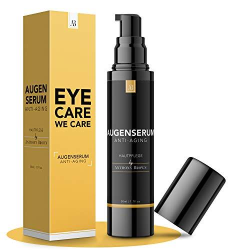 NEU: Augencreme Männer - 3-FACHE GRÖSSE 50ML - Frische Augen in 5min dank Hyaluron & Vitamin C - hautfreundliches Augenserum gegen Falten und Augenringe entfernen