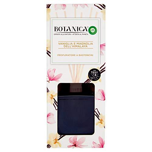 Airwick Botanica - Ambientador con difusor de Varillas, Aroma a Vainilla y Magnolia del Himalaya, Fragancia Natural, 80 ml