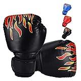 Ducomi - Guantes de Boxeo para Niños con Muñequera Ajustable, Protección de Nudillos Durante el Combate, Agarre, Puñetazos, Adecuados para Niños de 3 a 12 Años, Muay Thai, Kick Boxing 8 oz (Negro)