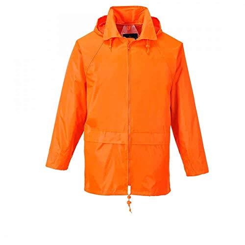 PORTWEST S440ORRM - Klassische Regenjacke, orange, Größe: M