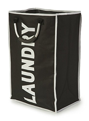 Laundry Bag with Handles, Black by Home Range Online