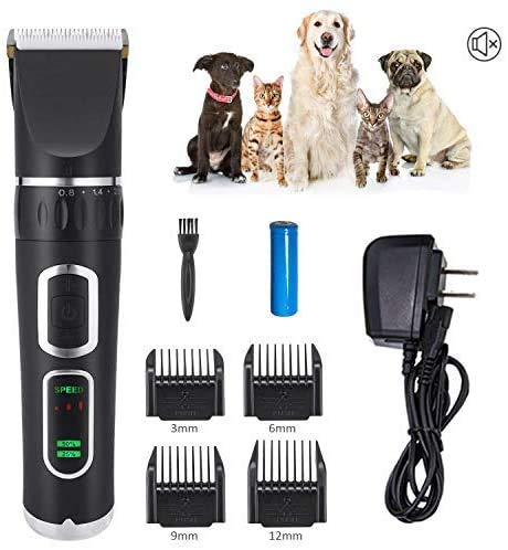 Hair clipper dier kat huisdier trimmer tondeuse dog clipper dier hond tondeuse hond klipper met 4 bijlagen LOLDF1