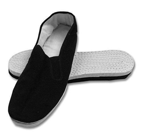 Men's Martial Art Kung Fu Tai Chi Cotton Sole Canvas Shoes (12) Black