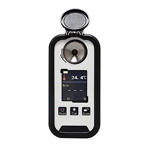 TOOGOO Neue 0-95% Digital Kaffee Zuckerkonzentrationsmesser Brix mit Dual Scale Display Temperaturkompensation Multifunktions Lebensmittelindustrie Agrarsaft Obst Refraktometer