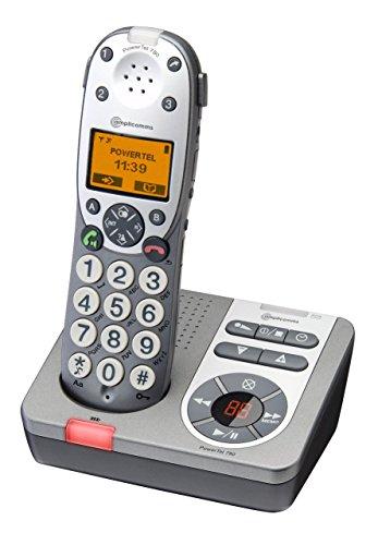 AMPLICOMMS PowerTel 780 schnurlos analog mit AB DECT Grosstaste Freisprechen Verstärkertaste Hörverstärkung (Hörer 40dB Rufton 90dB)