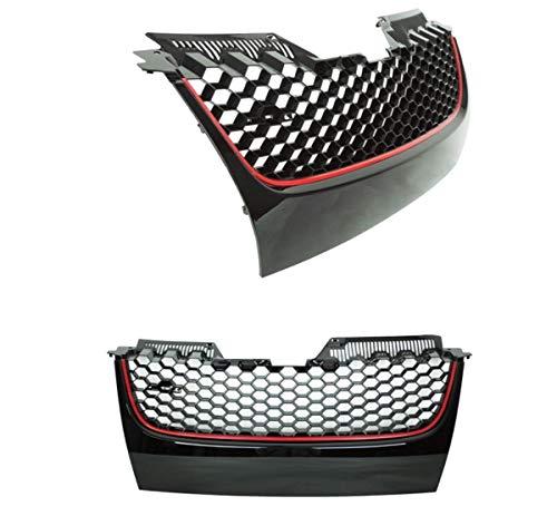 DM Autoteile Golf 5 V GTI Frontgrill Wabengitter Wabengrill Grill ABS ohne Emblem Stoßstange