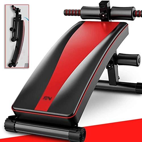 Candtong Fitness-Bank nach Hause Gewichtheber Verstellbarer Stuhl Sit-ups Bauchmuskelbordausrüstung Krafttraining Sport Bett hantelLager 300kg (Farbe : Schwarz, Größe : 133 * 52 * 61cm)