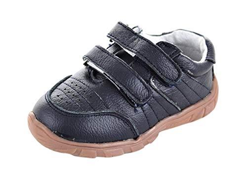 Magnus Baby Kinder Lauflernschuhe Leder Schuhe (22, Navy)