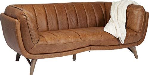 Kare Design Sofa Bruno, Loungesofa Leder, Ledersofa braun, Retro Ledersofa, (H/B/T) 79x218x98cm