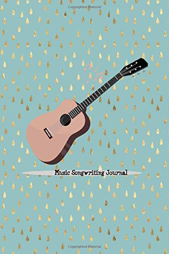 """Music Songwriting Journal: Blank Guitar Tabs paper, Standard Staff & Tablature Featuring Twelve 6-Line Tablature Staves Per Page With a """"TAB"""" Clef with Acoustic Guitar Theme"""