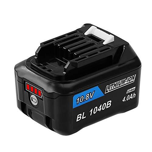 Reoben互? BL1040B マキタ10.8vバッテリー BL1040B BL1015マキタ互換バッテリー A-59863バッテリーマキタ充電式クリーナー 掃除機CL107FDSHW 残量指示付き 4000mAh リチウムイオン電池