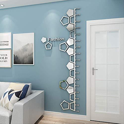 Kinderkamer Hoogte Liniaal Spiegel Art DIY Home Decoratie Gevormd Glas Wandpaneel Kunststof Lens Familie Woonkamer Slaapkamer Slaapbank Tv Achtergrond Wanddecoratie 180cm