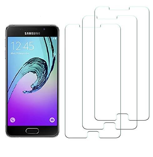 WEOFUN 2 Pezzi Vetro Temperato Samsung Galaxy A5 2016, Pellicola Protettiva per Samsung Galaxy A5 2016 Display Proteggi Schermo (0,33mm, 9H, Alta Trasparente)