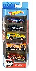Idea Regalo - Hot Wheels, Pack con 5 Macchinine, Veicoli Giocattolo per Bambini 3+Anni, Modelli Assortiti, 01806