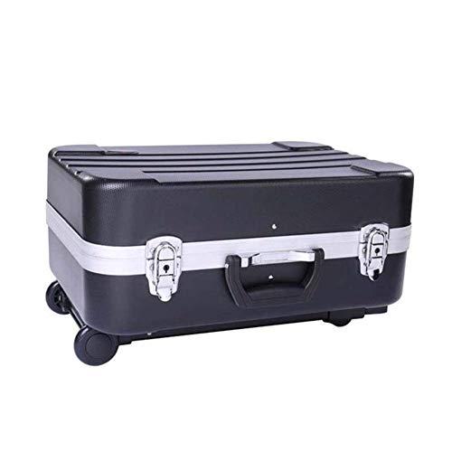 Caja de la Cabina de 20 Pulgadas Caja de Aluminio Caja de Almacenamiento Caja de Herramientas Multifunción Dual Uso de Doble Uso Maleta de Equipaje Ruedas, Negro, 20'