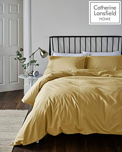 Catherine Lansfield Minimalist So Soft, Ochre, Super King Size Duvet Cover Set