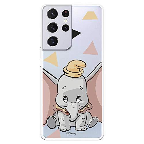 Schutzhülle für Samsung Galaxy S21 Ultra offizielles Dumbo Dumbo Silhouette, transparent. Schützen Sie Ihr Handy mit der offiziellen Disney-Schutzhülle aus Silikon.