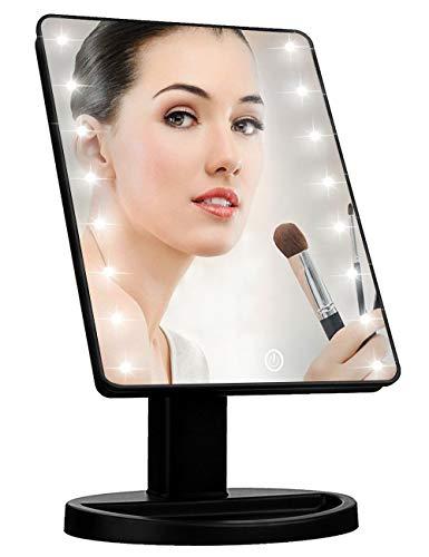 KOOKIN Lighted Vanity Makeup Mirror with 16 Led Lights 180 Degree Free -