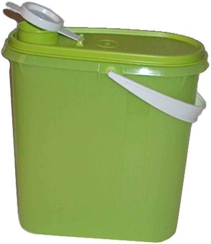 Tupperware 2 Quart Slim Line Refrigerator Pitcher Beverage Container Handle Lime Green