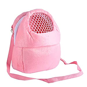 Pet Carrier Bag Pet Sling Carrier Backpack Portable Travel Backpack Breathable Outgoing Bag bonding Pouch for Small Pets Hedgehog Hamsters Sugar Glider Chinchilla Guinea Pig (Pink)