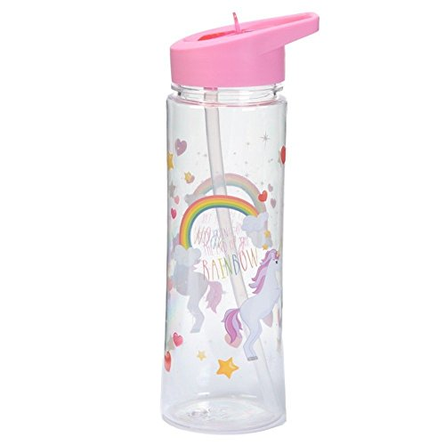 Puckator Enchanted Rainbow Borraccia Unicorni, Rosa