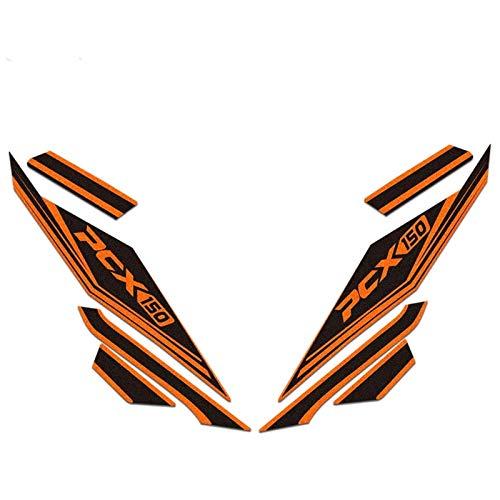 Pegatinas Decorativas Calcomanías Impermeables del Cuerpo Modificado de la Motocicleta para Honda PCX150 PCX 150 Película Reflectante Pegatinas para Moto (Color : A)