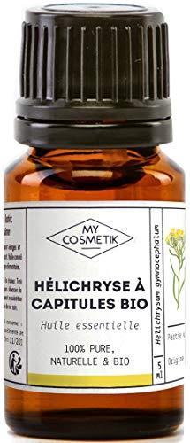 Aceite esencial de cabezas de Helichrysum orgánico - MyCosmetik - 10 ml