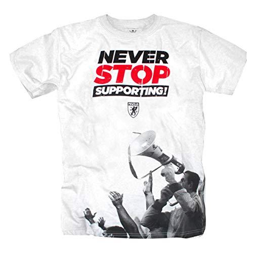 PG Wear Never Stop Support Fanatic Ultras Weiss T-Shirt (L)
