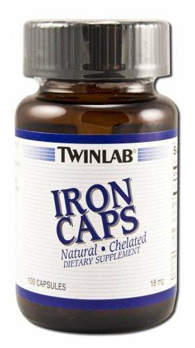 Twinlab Iron Caps 18mg 100 Capsules