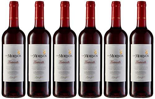 Los Molinos Tradición Tinto D.O. Valdepeñas Vino - Paquete de 6 x 750 ml - Total: 4500...